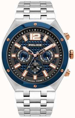 Police | Kediri | Stainless Steel Bracelet | Blue/Gun Metal Dial | 15995JSTBL/61M