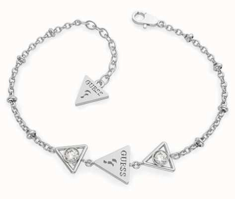 Guess | Queen Of Heart | Women's Silver Triangle Bracelet | L | UBB79015-L