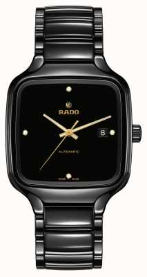 RADO True Square Automatic Diamonds | Black Ceramic Bracelet R27078722