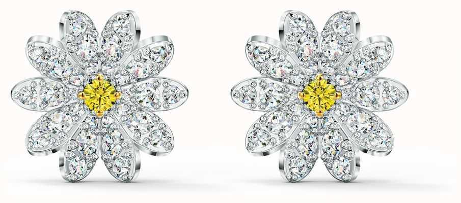Swarovski | Eternal |  Flower Stud Pierced Earrings | Yellow | 5518145