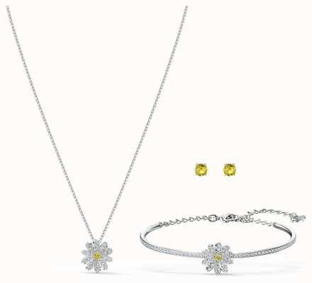 Swarovski | Eternal Flower Set | Yellow | Mixed Metal Finish 5518146