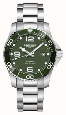 Longines Hydroconquest 41mm Automatic | Green Dial | Stainless Steel L37814066