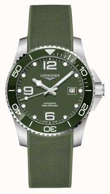 Longines Hydroconquest 41mm | Green Dial | Rubber Strap L37814069