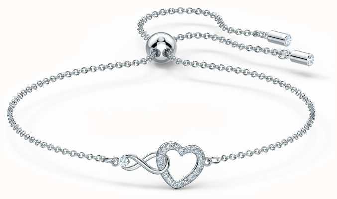 Swarovski | Infinity | Heart Bracelet | Rhodium Plated | White 5524421