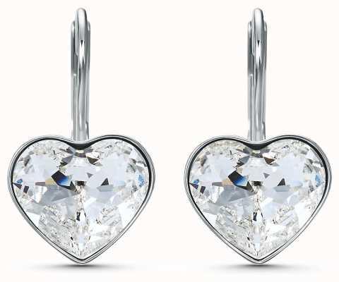 Swarovski | Bella | Heart Pierced Stud Earrings | Rhodium Plated | 5515191