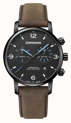 Wenger | Urban Metropolitan Chrono | Brown Leather Strap | 01.1743.112