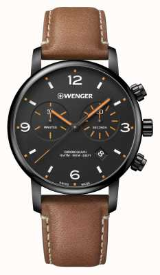 Wenger | Urban Metropolitan Chrono | Brown Leather | Black Dial 01.1743.113