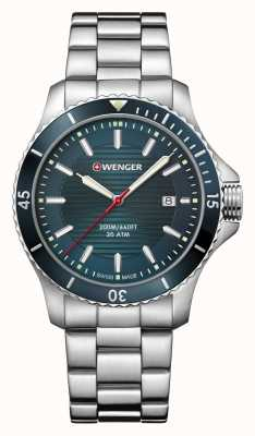 Wenger | Seaforce | Stainless Steel Bracelet | Petrol Blue Dial | 01.0641.129