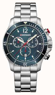 Wenger | Seaforce Chrono | Stainless Steel Bracelet | Blue Dial | 01.0643.115