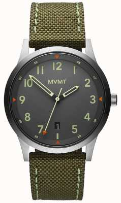 MVMT Men's | Field | Green Canvas Strap | Grey Dial 28000014-D