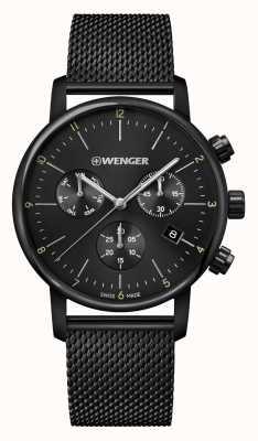 Wenger | Urban Classic Chrono | Black Mesh Bracelet | Black Dial 01.1743.116