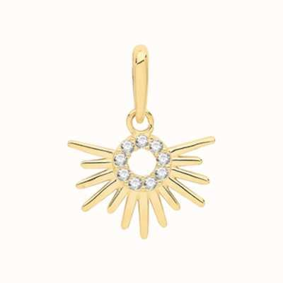 Treasure House 9ct Yellow Gold Cubic Zirconia Sun Rise Pendant Only PN1131