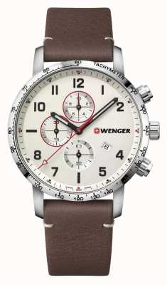 Wenger | Attitude Chrono | Brown Leather | Cream Dial | 01.1543.113