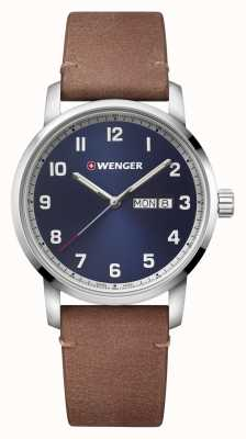 Wenger | Attitude | Brown Leather Strap | Blue Dial | 01.1541.114