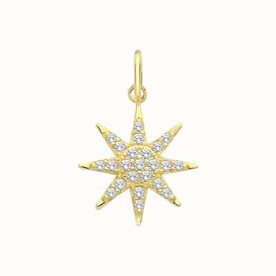 Treasure House 9ct Yellow Gold Multi Cubic Zirconia Star Pendant Only PN1176