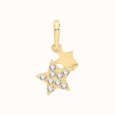 Treasure House 9ct Yellow Gold Star Double Drop Pendant Only PN1144