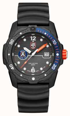 Luminox Mens Bear Grylls Survival Sea 3720 Series Black Blue/Orange XB.3723