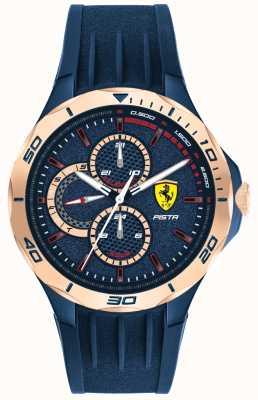 Scuderia Ferrari | Men's Pista | Blue Rubber Strap | Blue Dial | 0830724
