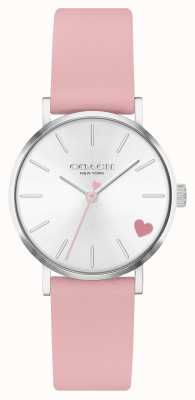 Coach | Women's Perry | Pink Calf Skin Strap | Silver Dial 14503518