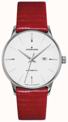 Junghans Meister Ladies Automatic Red Leather 027/4044.00
