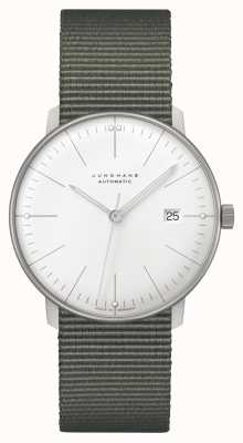 Junghans Max Bill Automatic Textile Strap Sapphire Glass 027/4001.02
