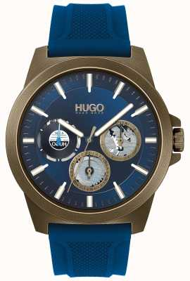 HUGO #TWIST | Blue Rubber Strap | Blue Dial 1530130