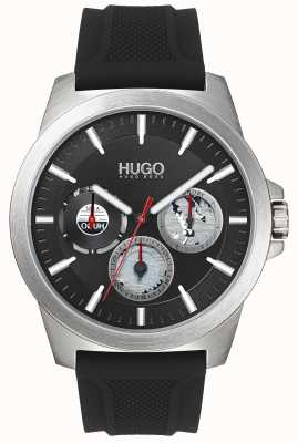 HUGO #TWIST | Black Rubber Strap | Black Dial | 1530129