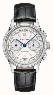 Certina DS | Chronograph | Automatic | Black Leather Strap C0384621603700