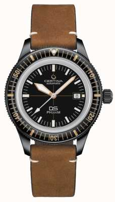 Certina DS PH200M | Automatic | Ceramic Bezel | Brown Leather C0364073605000