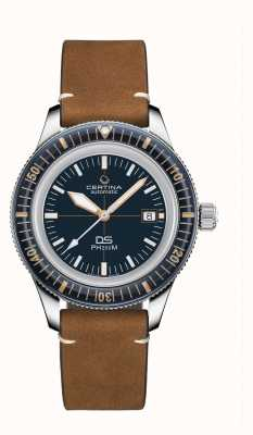 Certina DS PH200M | Automatic | Ceramic Bezel | Brown Leather Strap C0364071604000