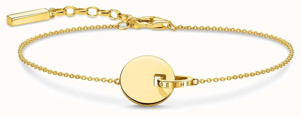 Thomas Sabo   Together Coin Bracelet   18k Gold Plated Sterling Silver A1934-413-39-L19V