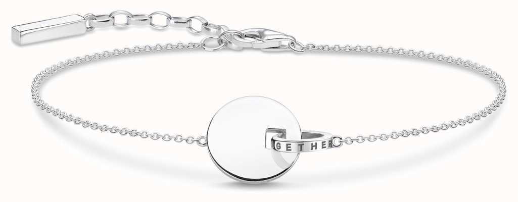 Thomas Sabo   Together Coin Bracelet   Sterling Silver A1934-637-21-L19V