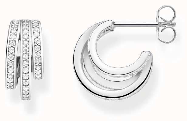 Thomas Sabo   Silver Hoop Earrings   Sterling Silver CR652-051-14