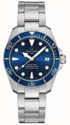 Certina DS ACTION Diver | 38MM | Powermatic 80 | Stainless Steel C0328071104100