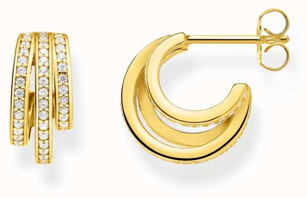 Thomas Sabo   Gold Ring Hoop Earrings   18K Gold Plated Sterling Silver CR652-414-14