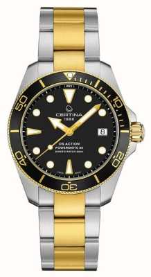 Certina DS ACTION Diver | 38MM | Powermatic 80 | Two Tone C0328072205100