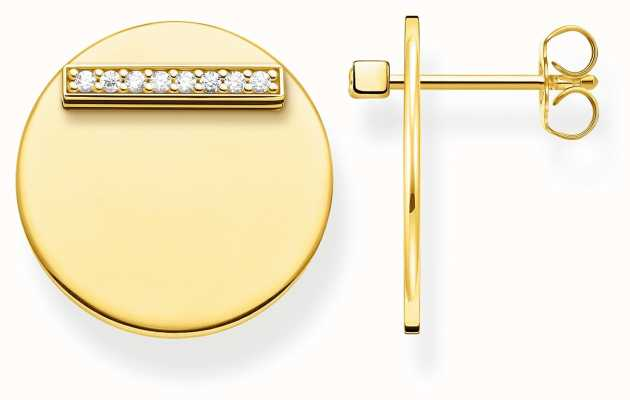 Thomas Sabo | Together Disc Gold Plated Earrings | H2096-414-14