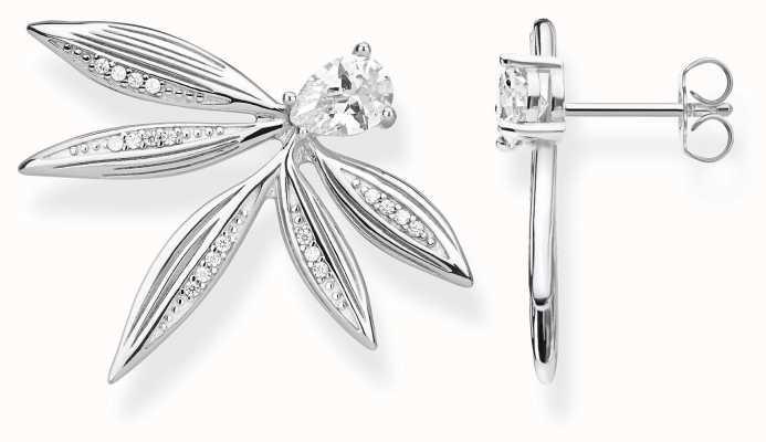Thomas Sabo   Sterling Silver Leaf Stud Earrings   H2106-051-14