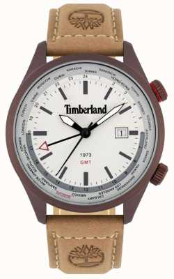 Timberland Men's | Malden | GMT | Brown Leather Strap | Cream Dial 15942JSBN/13