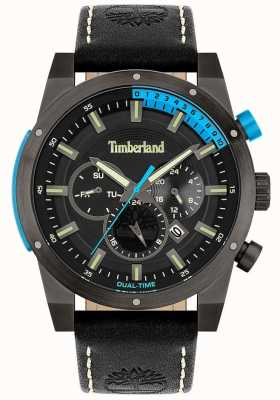 Timberland Men's | Sherbrook | Black Leather Strap | Black Dial 15951JSU/02