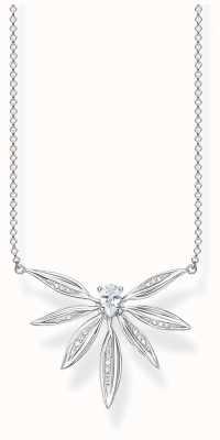 Thomas Sabo | Sterling Silver Leaf Pendant Necklace | KE1949-051-14-L45V