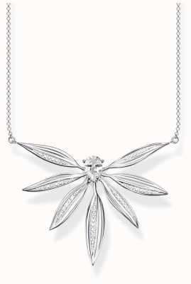 Thomas Sabo | Sterling Silver Large Leaf Pendant Necklace | KE1950-051-14-L45V