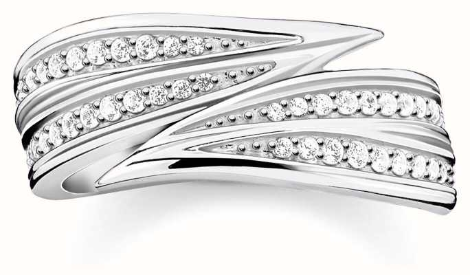 Thomas Sabo | Sterling Silver Leaves Ring | 54 TR2283-051-14-54