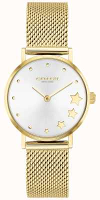 Coach | Women's Perry | Gold-Tone Steel Mesh | Silver Dial | 14503521