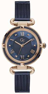 Gc | Women's CableChic | Blue Mesh/Bracelet | Blue Dial | Y58008L7MF