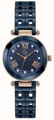 Gc | Women's PrimeChic | Blue Ceramic Bracelet | Blue Dial | Y66005L7MF