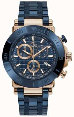 Gc | Men's One | Blue Stainless Steel Bracelet | Blue Dial | Y70001G7MF
