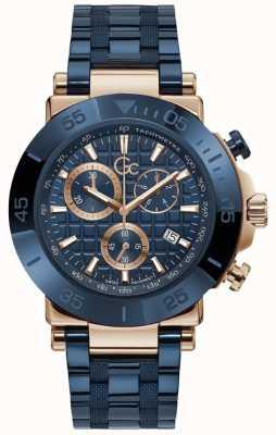 Gc | Men's One | Blue Stainless Steel Bracelet | Blue Dial | Y70001G7MF