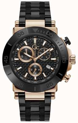 Gc | Men's One | Black Steel Bracelet | Black Dial | Y70002G2MF