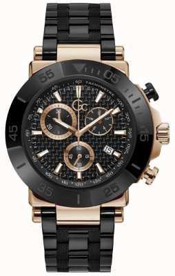 Gc | Men's One | Black Steel Bracelet | Black Dial | Y70002G2MF